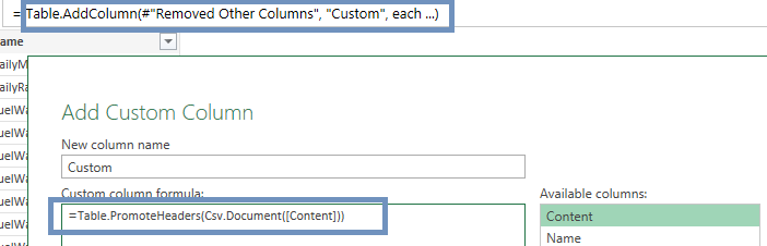 Custom Column Editor